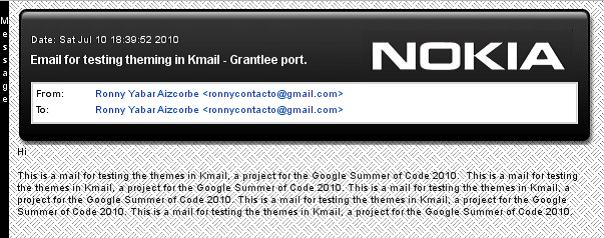 kmail Nokia Theme