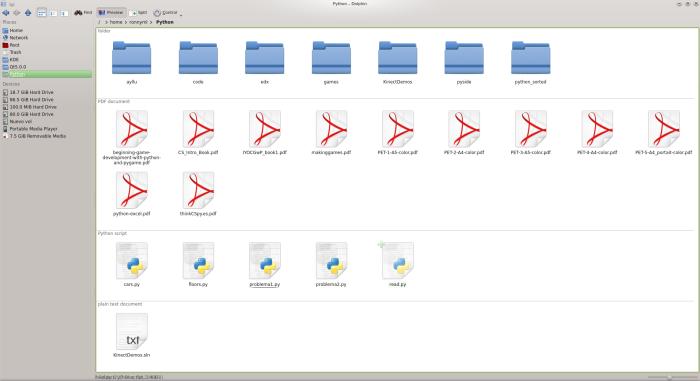 KDE 4.10 - Dolphin