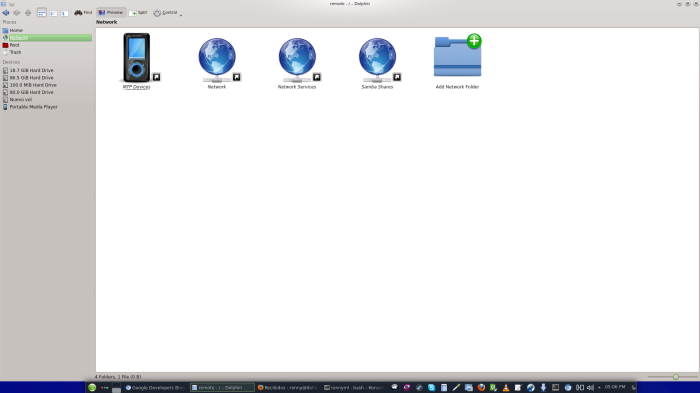 KDE 4.10 - Dolphin MTP Devices