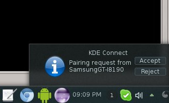 KDE Connect pairing request
