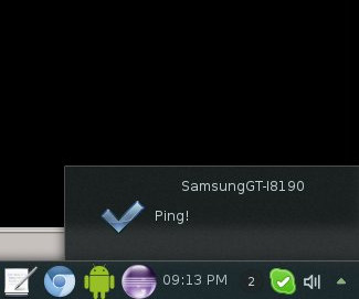KDE Connect mobile ping