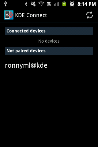 KDE Connect Android app